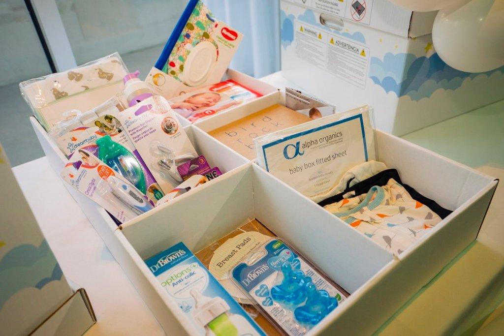 Baby Box filled with newborn essentials