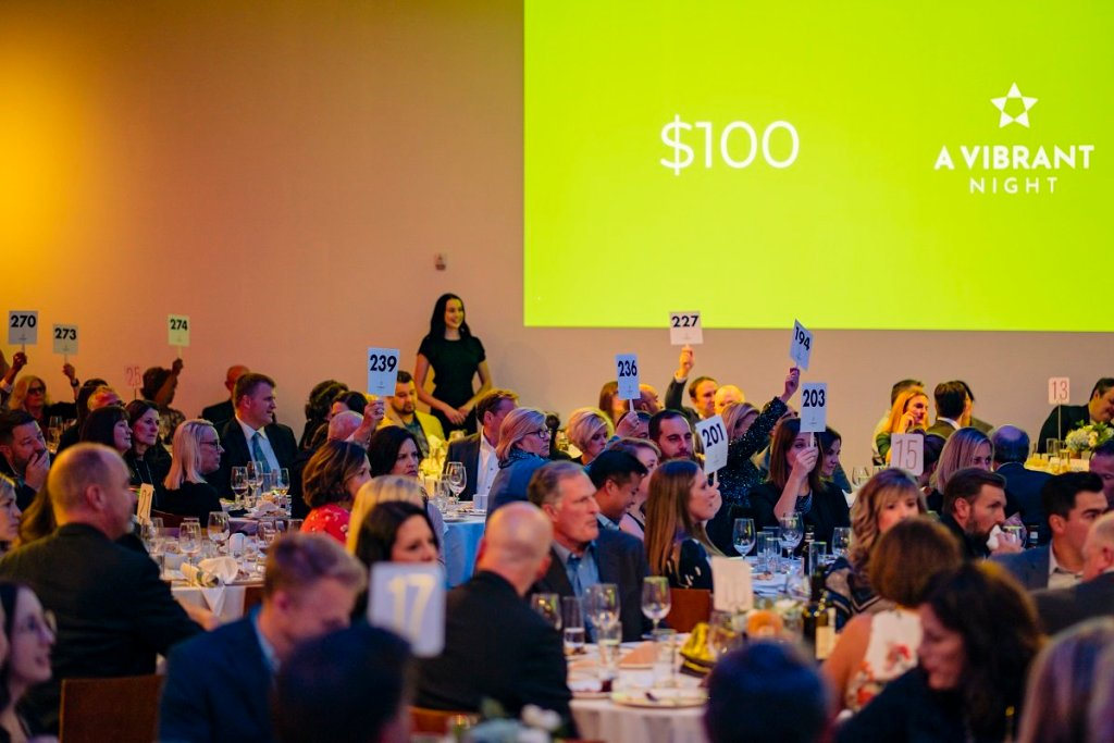 Guests at A Vibrant Night raise money for women's health.